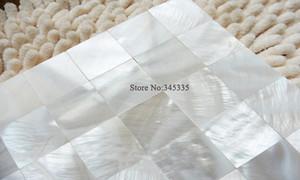 11 pcs Soberb white shell mosaico telhas mãe de pérola sem costura bar villa papel de parede mosaics banheiro cozinha telha telha de parede