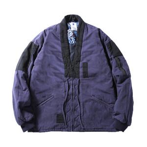 Hit Farbe Jacke japanische Jacke Männlicher Herbst und Winter Retro Thick Parkas Aufmaß lose beiläufiger Mantel