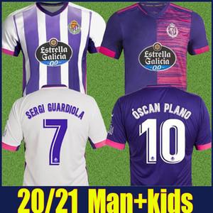 2020 Real Valladolid Homem Jersey crianças kit Sergi Guardiola Weissman camisa de futebol R.ALCARAZ OSCAR PLANO camiseta uniforme de Vallado 20/21