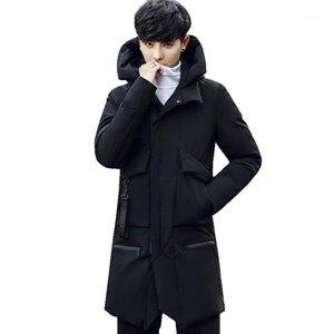 Pessoa Acácia Mais Novo Men's Inverno Quente Casaco Sólido Overcoat Com Capuz Digitas Casacos Outwear Roupas Masculinas Parkas Fashion Top1
