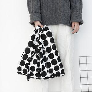 Simple Bag For Woman 2020 Dot Large-capacity Canvas Tote All-match Girls Bandolera Mujer Bolsa Knot Wave Point Shoulder Bag
