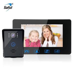"Video Door Phones Saful 7""TFT LCD Phone Intercom Waterproof Doorbell System Free Disturb Handsfree Home Security Night Vision"