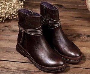 estrela de couro de couro mulher mulheres sapatos de moda curto Outono mulheres marca de moda tornozelo inverno botas Martin botas 05 P310