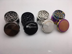 40mm 4parts Rainbow Drum herb grinder zicn alloy diamond Shape metal tobacco smoking grinder free shipping