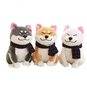 25см шарф Сиба ину собака Плюшевые игрушки Японская кукла дож собаки чучело игрушки подарка детей 201027