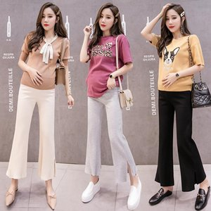 1903# Maternity Pants Spring Autumn Casual Pants Loose Comfy Belly Support Split Maternity Trousers