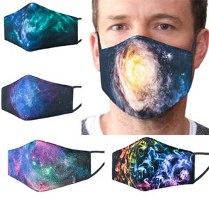 Christmas Mask Fashion 3D Starry Sky Leopard Face Mask 3 Layer Anti Dust Mouth Cover PM2.5 Respirator Designer Face Masks STOCK DHL F102106