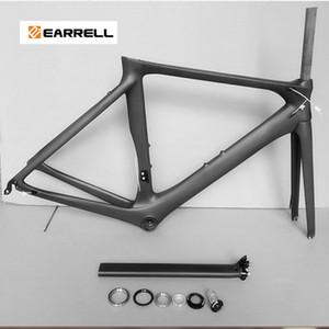 2021 nouveau earrell Route Carbone Cadre vélo et mécanique brompton Di2 50/53 / 56mm Super Light bike graisse Cadre vélo / cadre de la bicyclette