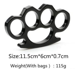 Silver And Black Thin Steel Brass Knuckle Dusters,self Defense Personal Security Women's And Men's Self- jllkCz bdebag