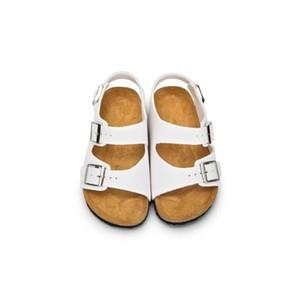 Xiiying Smile Brand Arizona Дети Плоские Сандалии Молодежные Повседневная Обувь Дети Пряжки Пляж Летние Натуральные Кожаные Тапочки Мальчик Девочки Y200404