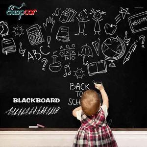 벽 스티커 아이 크리 에이 티브 칠판 스티커 이동식 칠판 PVC 홈 침실 키즈 룸 문 장식 일반 chalks1