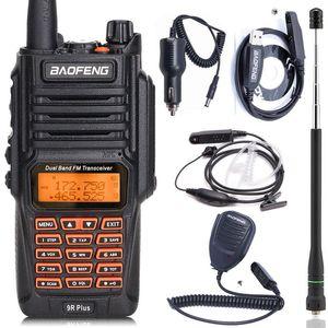 Atualizar Waterproof Dual Band 136-174 / 400-520MHz BF-UV9R Radio Ham Faixa 8Watts Walkie Talkie 10KM longo Baofeng UV9R Além disso IP67