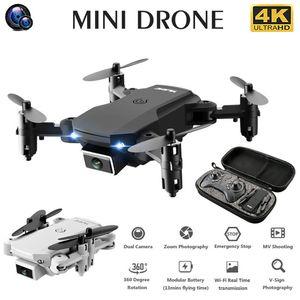 S66 Mini RC Drone 4K HD Kamera WiFi Fpv Katlanabilir Drones Çift Kamera Quadcopter 15 Dakika Pil Ömrü Rakım Bakım Oyuncak Hediye