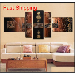100% Hand-painted Modern Wall Art Abstract Handmade Oil Painting On Canvas Wall Art Picture 5 Pcs set Sitti qylZQo bdesports