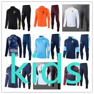 NCAA Top Nouveaux Kids Football Kits 20 21 Kit de football 2020 2021 TrackSuit Jacket Entraînement Sportswear Set Boys Suiquée Enfant Survèrent Chan