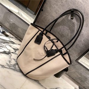 Canvas bucket bag cylindrical 2020 new wild large capacity small square bag shoulder female handbag