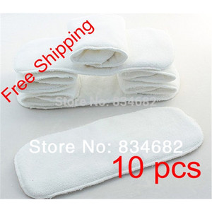 New 10 PCS Washable Microfiber Baby Cloth Diaper Nappy Liners Inserts 2 Layers Super Soft Hot Nappy Liners 201020