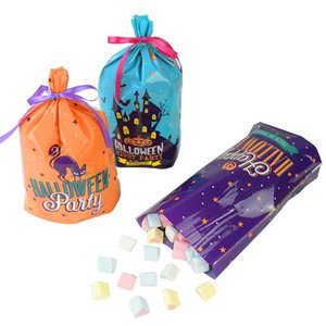 Cute Halloween Candy Bags Cookie Packaging Self-adhesive Plastic Bags Halloween Party Supplies Trick Or Treat Kids Gifts