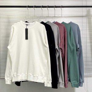 Moda nova mulheres mulheres moletom com manga emblema 6 cores outono inverno homens mulheres hoodies tamanho M-2XL