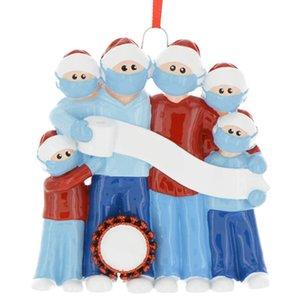 Forniture Giorno Decorazione natalizia Decorazione albero di Natale Babbo Natale del pendente con una maschera YYY ornamenti regalo decorazioni di festa di Natale
