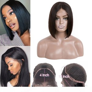 Mink Brazilian Straight Hair Lace Frontal Bob Ear To Ear Lace Lace Frontal Wigs 13x4 Straight Bob Short Wigs