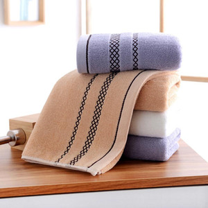 Eco-friendly Soft Durable Towels Thicken Cotton Absorbent Wash Face Towels Custom Logo 13.4*29.1inch Cleaning Face Towel