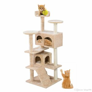 Nouveau Cat Tower Condo Furniture Scratch Post Kitty Pet House Play Beige
