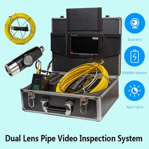 """20M 42MM Dual Lens Pipe Video Inspection System With DVR And 12 LED Adjustable With High White Light 7"""" LCD Color Monitor"""