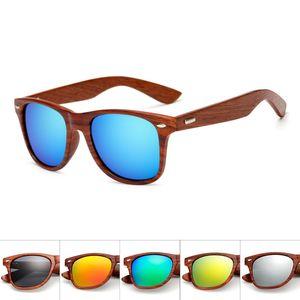 Имитация древесины зерна пластиковые рамки мужчины женщины квадратные солнцезащитные очки зеркальное искусство деревянные UV400 защиты солнцезащитные очки ретро Гафас де Соль