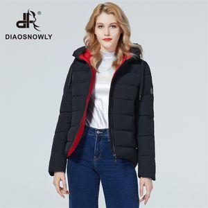 Diaosnowly новой зимней куртка короткого пальто женщина зимняя мода куртка и парк для женщин теплого коротких пиджаков пальто 201026