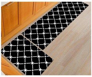 Lyngy noir drôle de plancher de plancher cuisine longue tapis d'entrée lavable paillonds couloirs de couloir extérieur tapis d'entrée de porte avant 1pc
