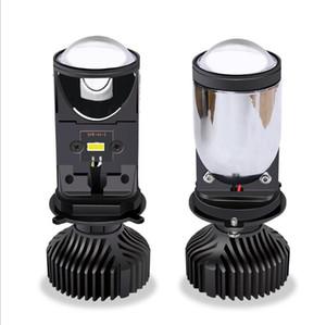 2pcs Nouvelle Arrivée H4 LED phare de voiture Mini Projecteur lentille 64W / paire 1000lm Faisceau phares 12V24V RHD LHD