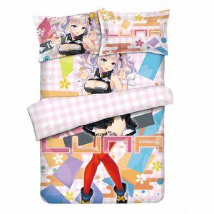 Anime YouTuber Kaguya Offizielle Kaguya Bettwäsche-Sets Twin / Queen / King-Bett-Set mit Pilloccase + Blatt + Bettbezüge GSGP #