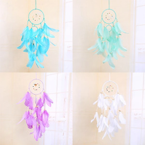 LED Light Dream Catcher Handmade Feathers Car Home Wall Hanging Decoration Ornament Gift Dreamcatcher Wind Chime Party Decoratio 8 G2