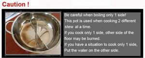 Venta al por mayor-pato olla caliente espesa acero inoxidable cocina especial olla olla olla caliente falló 28-40 cm 8v5y #