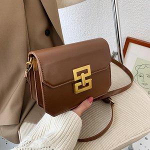 2021 Mode Hundert mit schrägen Tasche Neue Trendy Hochwertige Fremdgas Kleine Square Bag