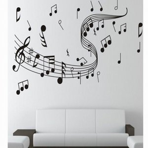 Wall Sticker Music Notation Stickers Fashion Hand-Painted Decorative Art Stickers Decal Manufacturers Supply Home Living Decor