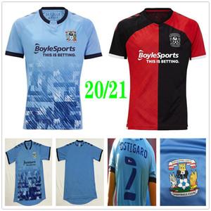 20 21 Coventry City Football Jersey Biamou Bakayoko Godden Jobello Shipley Ostigard Jones Allen Hyam مخصص 2020 Home Blue Soccer Shirt