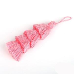 1 pc 4 camadas poliéster algodão tassel guarnição 8cm borlas de seda para decoração de casamento em casa DIY Costura cortinas acessórios h jllvwu