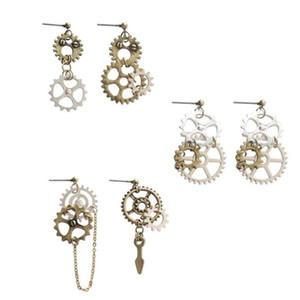 2020 New 1Pair DIY Steampunk Gears Charms Dangle Earrings for Women Funny Drop Earrings Jewelry Interesting