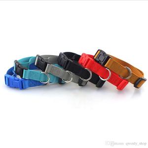Собака Tie высокого качества Plain Цветные полиэстер Воротник Нейлон Pet ожерелье Собака ожерелье Малые и средние собаки продукты