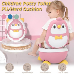 New Children's Pot Cute Penguin Ajustable Height Baby Potty Training Seat Portable Toilet for Babies Infantil Baby Boy Girls 201117