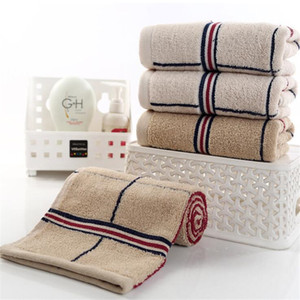 Creative Stripe Unisex Cotton Towels Fashion Absorbent Men Women Bath Towel High Grade Quick Dry Hair Towels 2 Colors 01