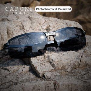 Caponi ultraligeros Deportes gafas de sol polarizadas de los hombres de la vendimia Fotocromáticas gafas de moda marca de diseño Gafas de sol UV400 BS3043
