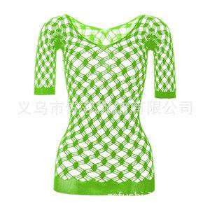 유럽 및 미국 섹시한 속옷 여자 투명한 컷 아웃 스타킹 꽉 fishnet 옷 원피스 오픈 스트랩 유니폼 W041