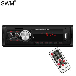 SWM Car Radio For Car Autoestereo Radio Pantalla 12V Bluetooth Multimedia Mp3 Player Fm Tf Aux Eq Sound Effect Stereo