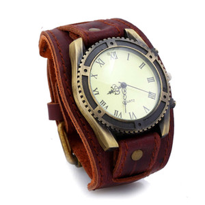 men's New punk watch leather bracelet Watch Leather Bracelet