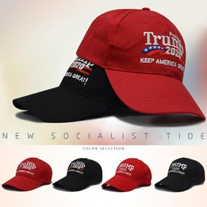 Two Styles Embroidery Cotton Adjustable Breathable Hat Trump 2020 Keep America Great Baseball Cap Outdoor Trump Unisex Caps