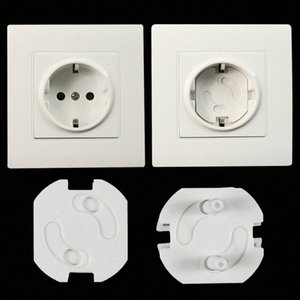 10pcs Baby Safety Rotate Cover 2 Hole Round European Standard Children Against Electric Protection Socket Plastic Security Locks Ce2r#