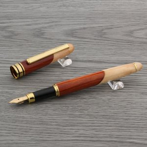 luxury High quality red WHITE fountain pen splice wood Luxurious golden M gift ink pens Stationery Office school supplies new